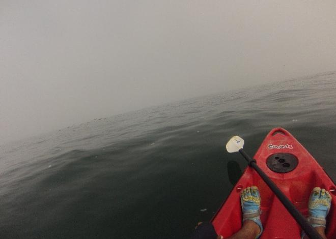 kayak en mar