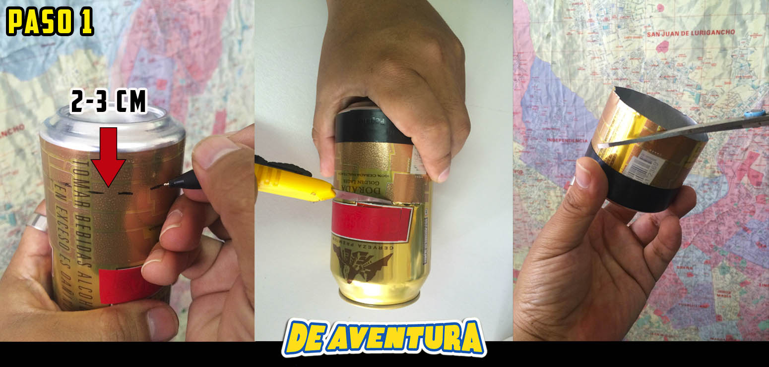 supervivencia, cortando latas