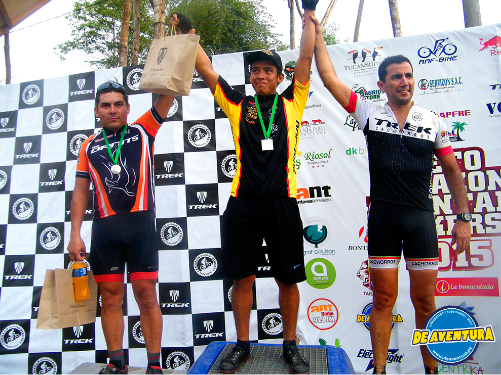 Ganadores Master-A reto amazon mountain bikers